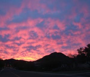 A pastel sunrise appeared in my neighborhood on Feb. 27, 2010.