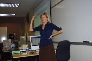 Journalist Sarah Fenske answers PVCC students' questions.