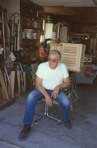 Dad loved working in his garage making beautiful things for those he loved.