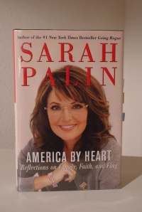 "Sarah Palin writes ""America by Heart."""