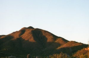 On 9/11, the early morning sun lit up the mountains around Cave Creek, Ariz.