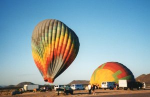 As I drove home from Cave Creek on 9/11, I saw two hot air balloons at Jomax Road.