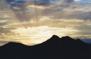 The sun rose over Shadow Mountain on Sept. 13, 2001, but the skies remained quiet except for patrolling jets.